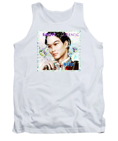 Tank Top featuring the painting Saint Lorenzo Ruiz Of The Philippines by Suzanne Silvir