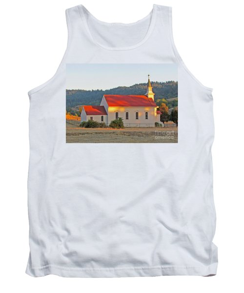 St. Mary's Church At Sunset Tank Top