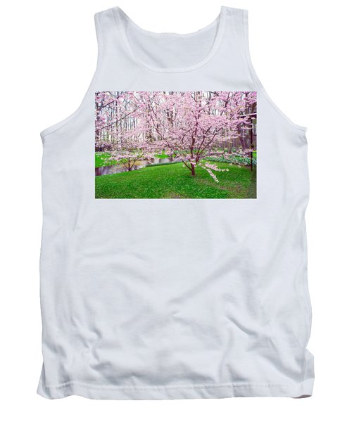 Tank Top featuring the photograph Sakura Bloom In Keukenhof Garden by Jenny Rainbow