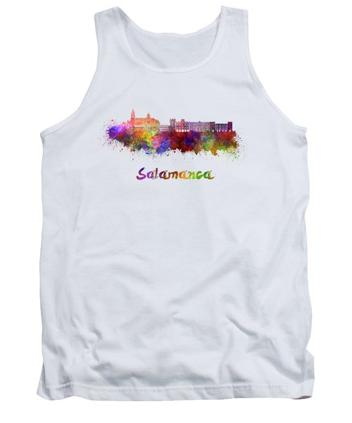 Salamanca Skyline In Watercolor Tank Top