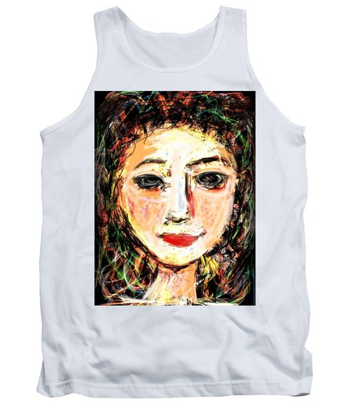 Tank Top featuring the digital art Samantha by Elaine Lanoue