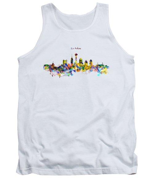 San Antonio Skyline Silhouette Tank Top