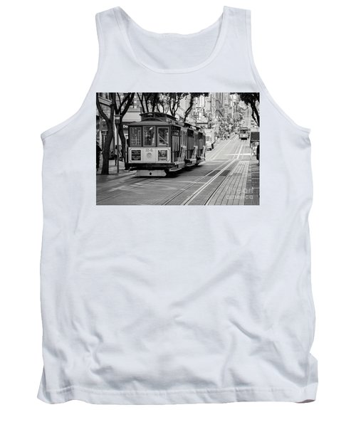 San Francisco Cable Cars Tank Top by Eddie Yerkish