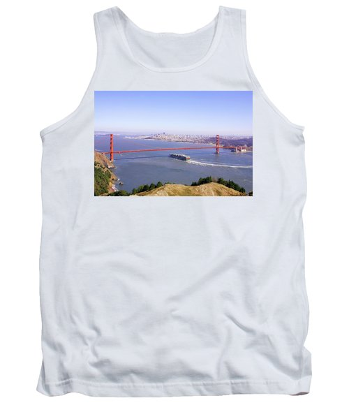 Tank Top featuring the photograph San Francisco - City By The Bay by Art Block Collections
