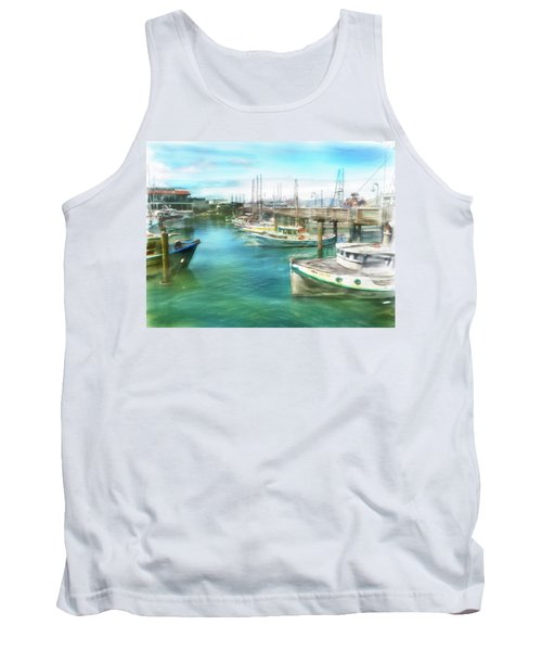 San Francisco Fishing Boats Tank Top by Michael Cleere