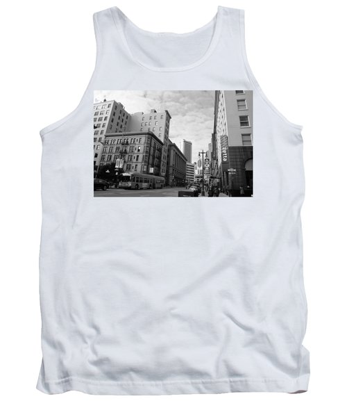 San Francisco - Jessie Street View - Black And White Tank Top by Matt Harang