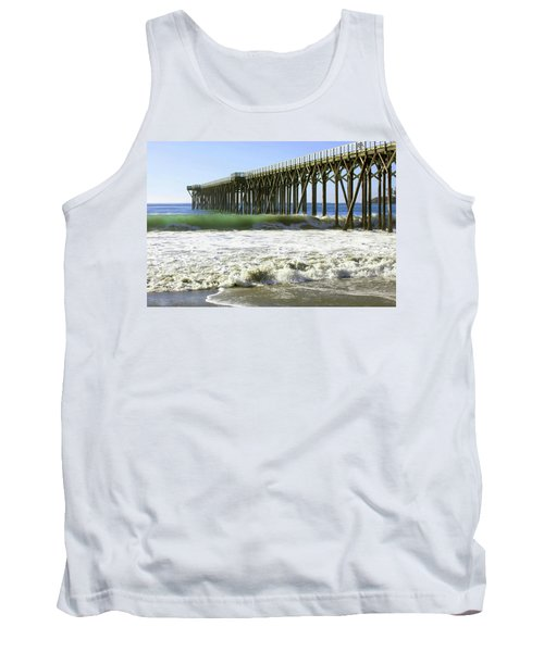 Tank Top featuring the photograph San Simeon Pier by Art Block Collections