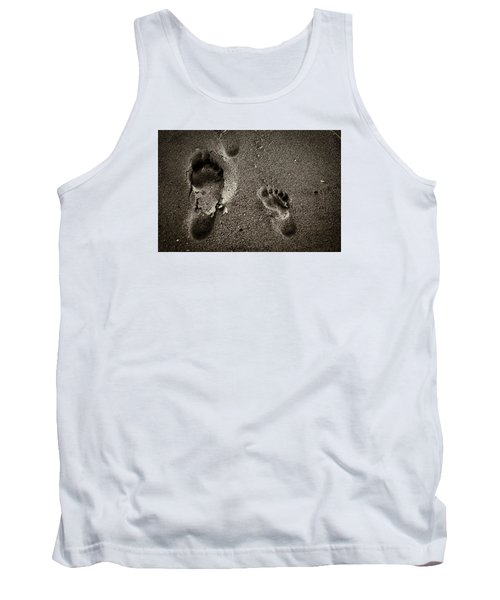 Tank Top featuring the photograph Sand Feet by Lora Lee Chapman