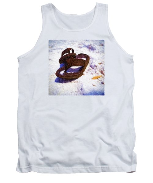 Sandals In The Sand Tank Top by Rena Trepanier
