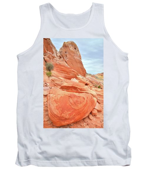 Tank Top featuring the photograph Sandstone Pillar In Valley Of Fire by Ray Mathis