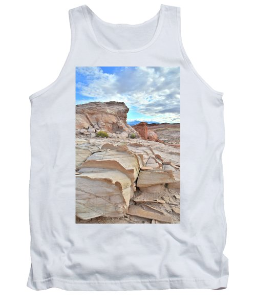 Sandstone Staircase In Valley Of Fire Tank Top by Ray Mathis