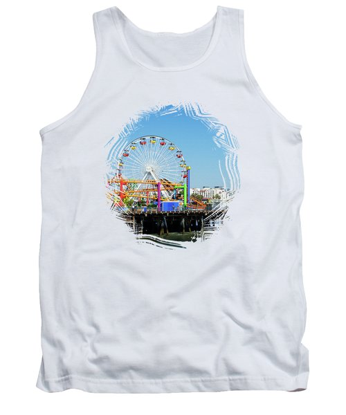 Santa Monica Ferris Wheel Tank Top by Stefanie Juliette