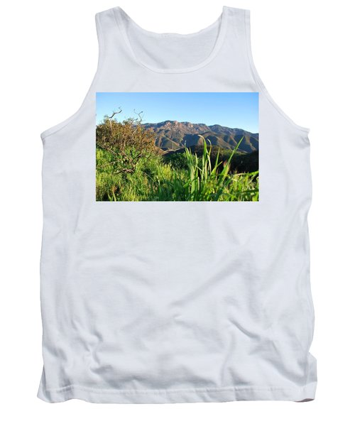 Tank Top featuring the photograph Santa Monica Mountains Green Landscape by Matt Harang