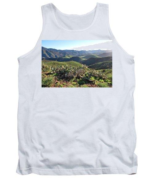 Santa Monica Mountains - Hills And Cactus Tank Top