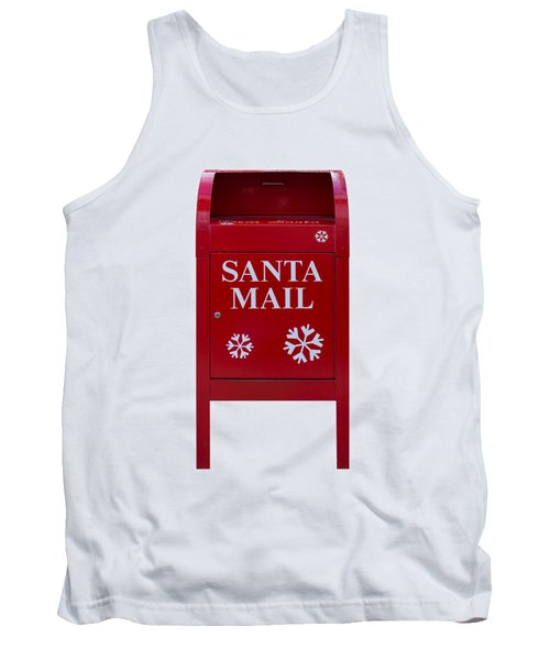 Santa Red Mail Box Tank Top