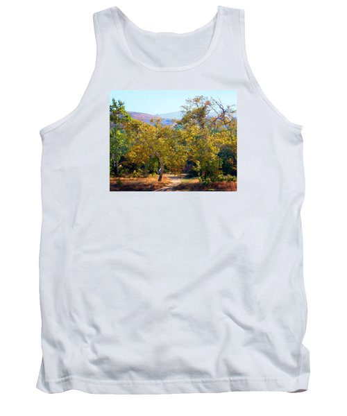 Tank Top featuring the photograph Santiago Creek Trail by Timothy Bulone