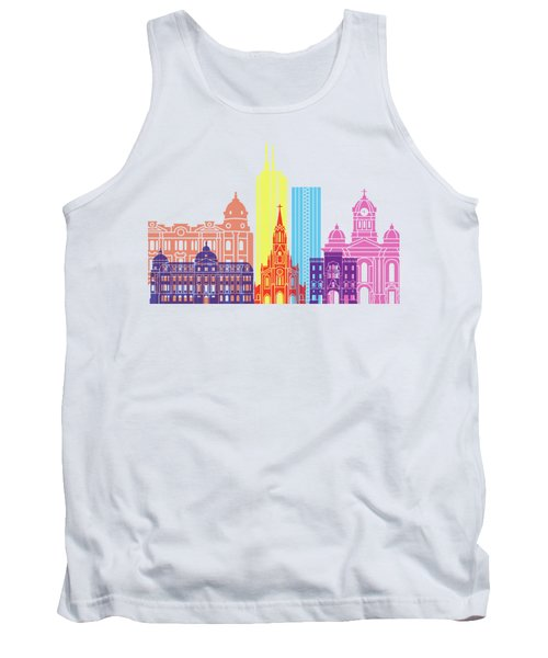 Santiago De Cali Skyline Pop Tank Top