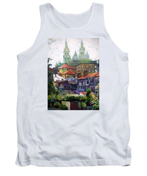 Tank Top featuring the painting Santiago  Spain by Paul Weerasekera