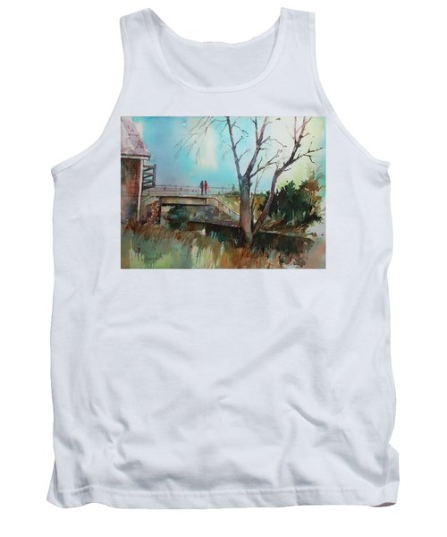 Sara's Viewi Of The Jones River Tank Top by P Anthony Visco