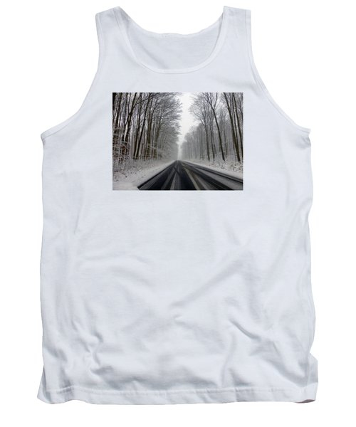 Saturday First Snow Of 2015 Tank Top by Tina M Wenger