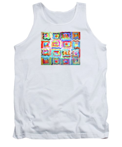 Tank Top featuring the photograph Saturday Quilting Muse by Gwyn Newcombe