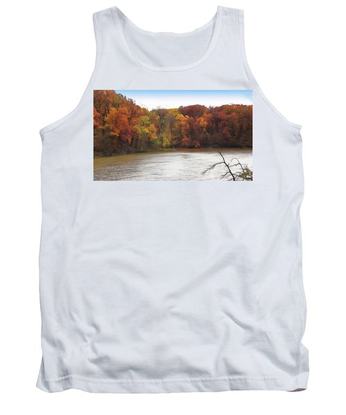 Sauk Lake Autumn Tank Top by Cedric Hampton