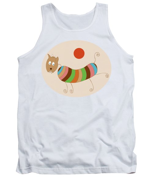 Sausage Dog In Ketchup Sunset Tank Top