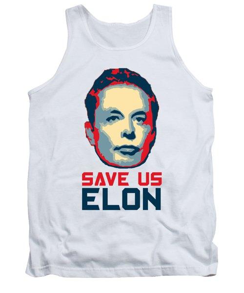 Save Us Elon Pop Art Tank Top