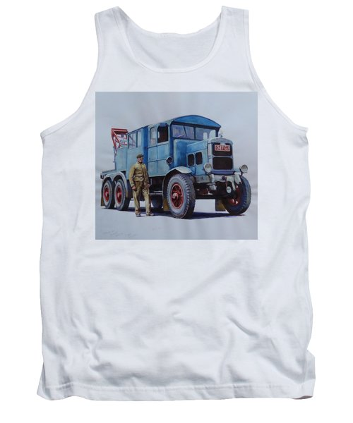 Tank Top featuring the painting Scammell Wrecker. by Mike Jeffries