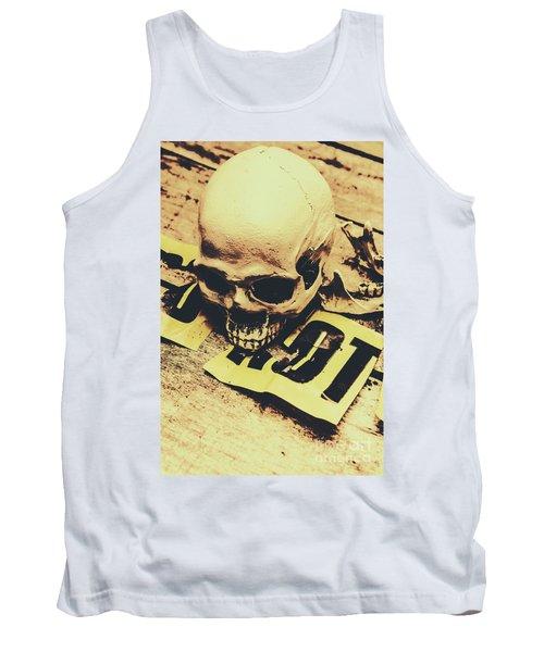 Scary Human Skull Tank Top