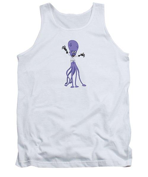Scary Purple Alien Tank Top