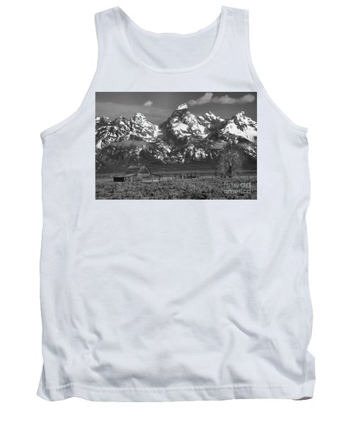 Scenic Mormon Homestead Black And White Tank Top by Adam Jewell