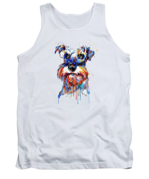 Schnauzer Head Tank Top