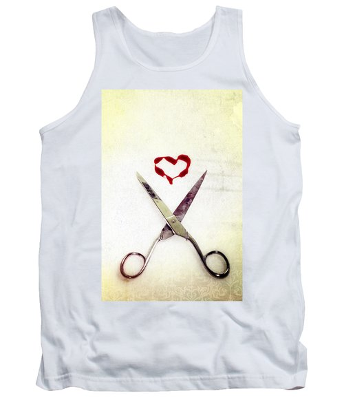 Scissors And Heart Tank Top