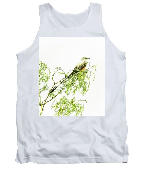 Scissortail On Mesquite Tank Top by Robert Frederick