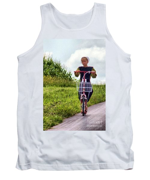 Tank Top featuring the photograph Scootin' by Polly Peacock