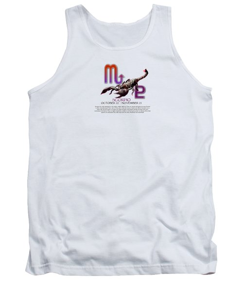 Scorpio Sun Sign Tank Top by Shelley Overton