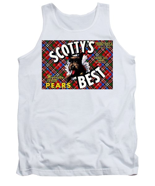 Tank Top featuring the painting Scotty's Best Washington State Pears by Peter Gumaer Ogden