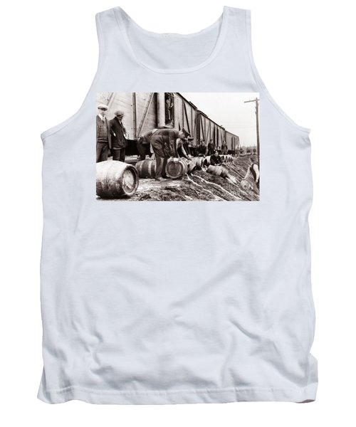 Scranton Police Dumping Beer During Prohibition  Scranton Pa 1920 To 1933 Tank Top