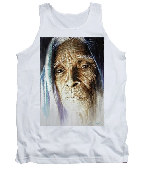 Tank Top featuring the painting Scripts Of Ancestral Light  by J- J- Espinoza