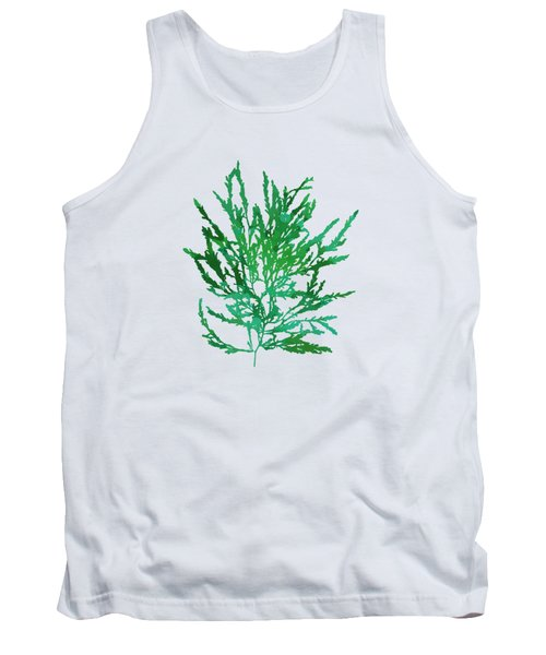 Tank Top featuring the mixed media Sea Green Seaweed Art Odonthalia Dentata by Christina Rollo
