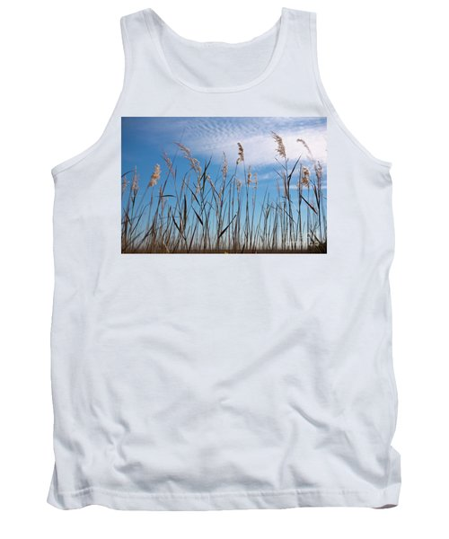 Sea Oats And Sky On Outer Banks Tank Top by Dan Carmichael
