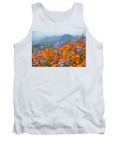 Sea Of California Wildflowers Tank Top by Kyle Hanson