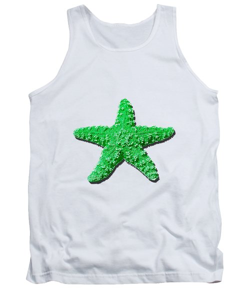Sea Star Green .png Tank Top