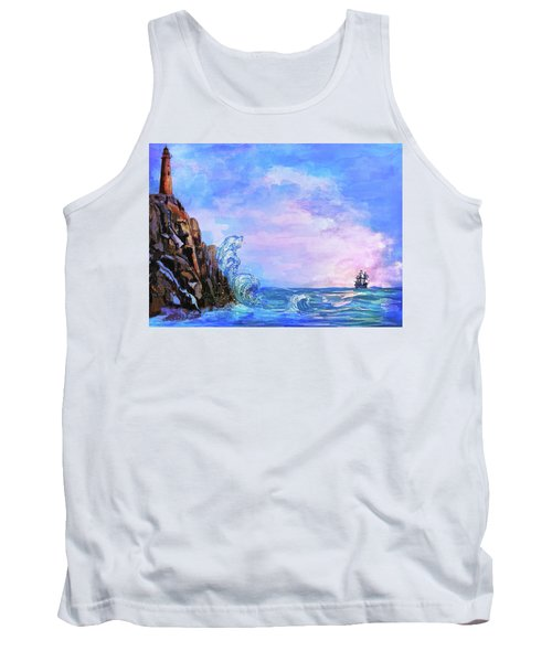 Tank Top featuring the painting Sea Stories 2  by Andrzej Szczerski