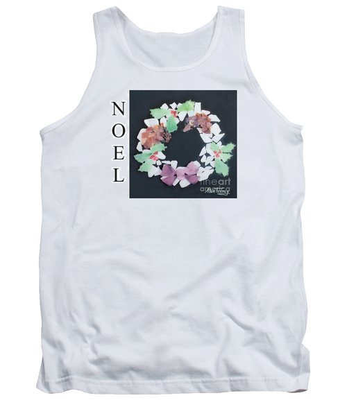 Tank Top featuring the painting Seaglass Wreath by Stan Tenney