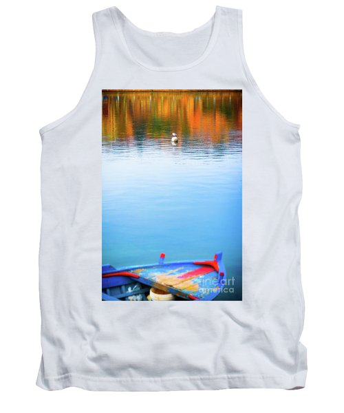 Tank Top featuring the photograph Seagull And Boat by Silvia Ganora