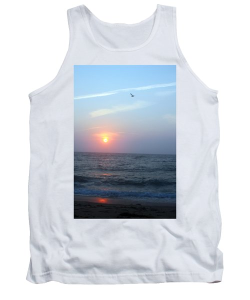 Seagull Sunset Tank Top by Todd Breitling