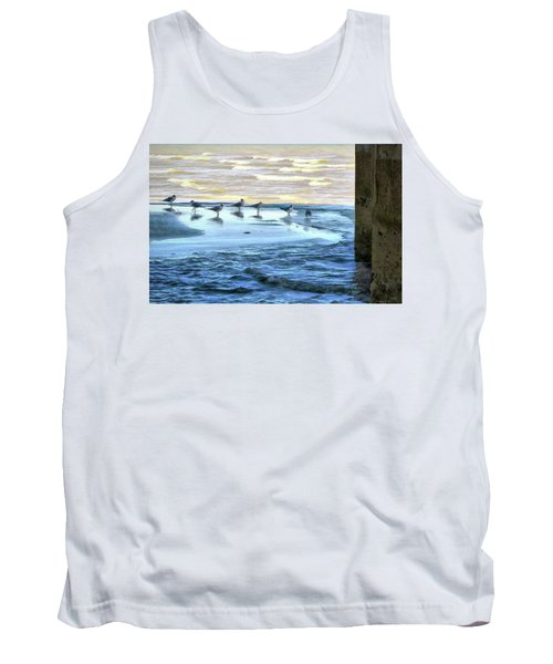Seagulls At Waters Edge Tank Top