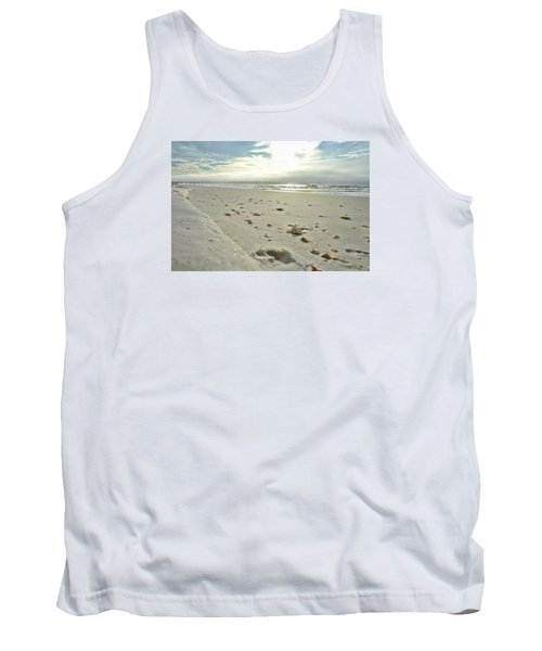 Tank Top featuring the photograph Seashells On The Seashore by Renee Hardison